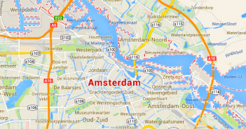 Transportes do aeroporto para o centro de Amesterdão