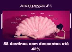 Bilhetes de Avião com desconto na Air France