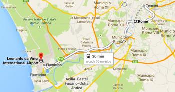 Transferes de autocarro, comboio e táxi entre Fiumicino e Roma