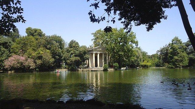A Villa Borghese é um dos maiores espaços verdes de Roma
