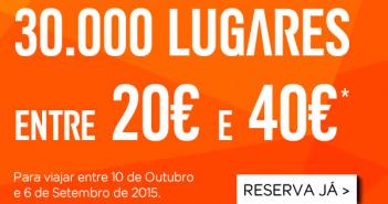Voos baratos entre 20 e 40 euros