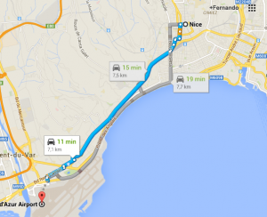 Como ir do aeroporto ao centro de Nice