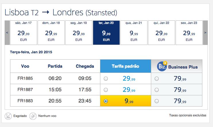 Saldos Ryanair para começar o ano a viajar low cost