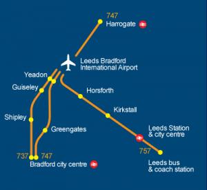 Transportes e transferes do aeroporto de Leeds para o centro