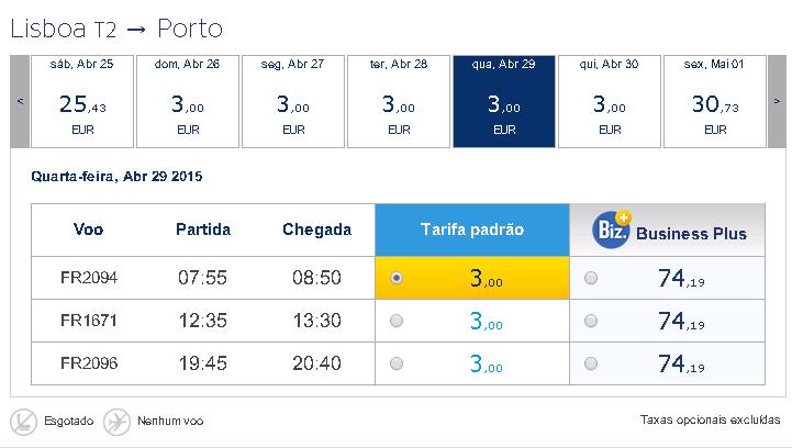 Promoções de Voos Low Cost na Ryanair