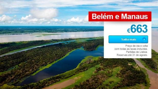 Passagens Aéreas TAP: Belém e Manaus em Promoção