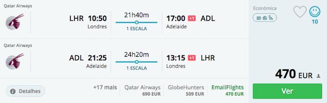 voos-australia-londres