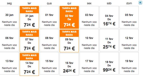Tarifas low cost para a Suiça